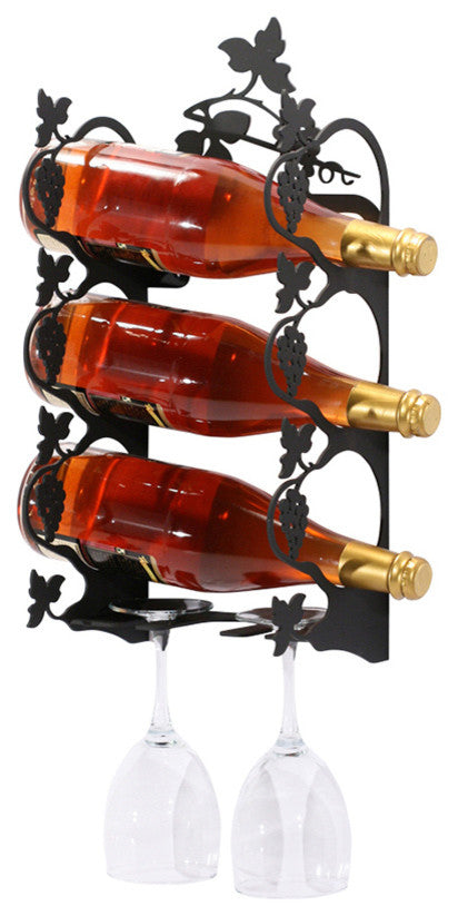Grapevine Wine Rack, Wall Mount, Extra Small - Pot Racks Plus