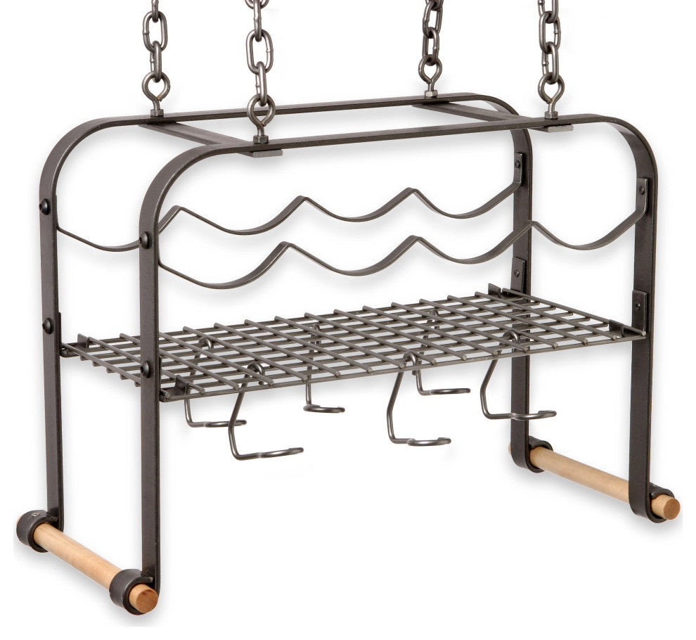 Hanging Wine and Accessories Rack - Pot Racks Plus