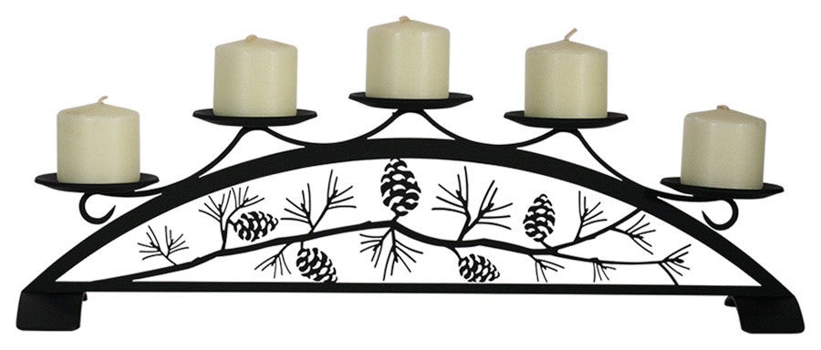 Pinecone, Table Top Pillar Candle Holder