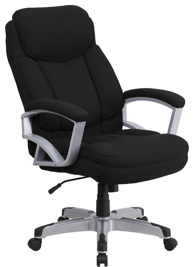 HERCULES Series Big & Tall 500 lb. Rated Black Fabric Executive Swivel Ergonomic Office Chair with Arms