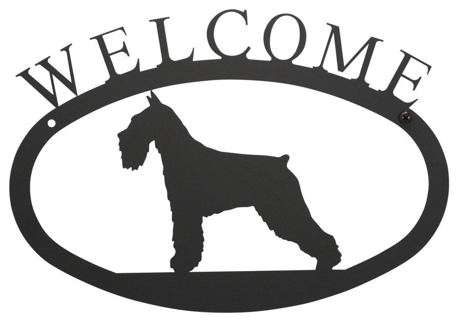 Welcome Sign, Small, Schnauzer