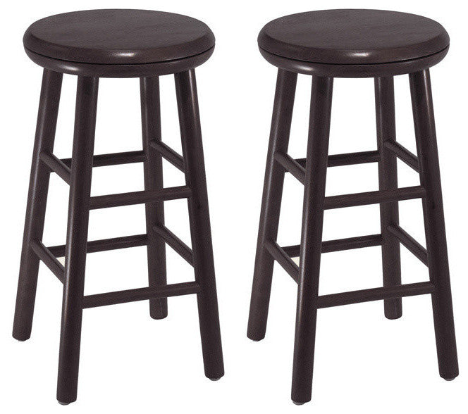 "24"" Swivel Kitchen Stool, Assembled, Set of 2 - Pot Racks Plus"