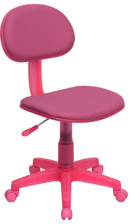 Pink Fabric Swivel Task Office Chair