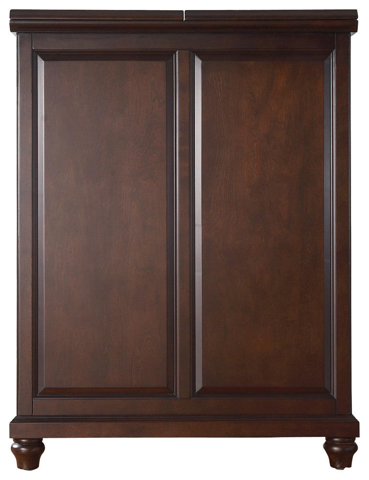 Cambridge Expandable Bar Cabinet, Vintage Mahogany Finish - Pot Racks Plus