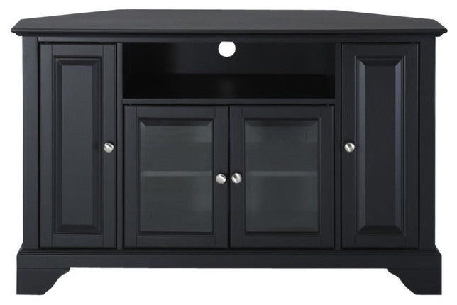 "Lafayette 48"" Corner TV Stand, Black - Pot Racks Plus"
