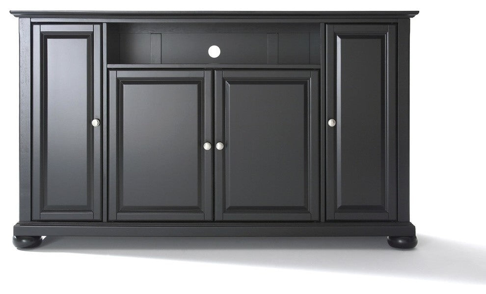 "Alexandria 60"" TV Stand, Black Finish - Pot Racks Plus"