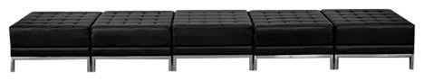 HERCULES Imagination Series Black LeatherSoft Five Seat Bench