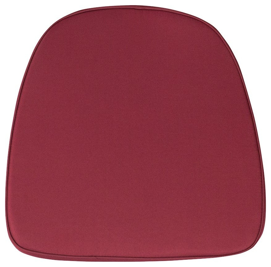 Soft Burgundy Fabric Chiavari Chair Cushion