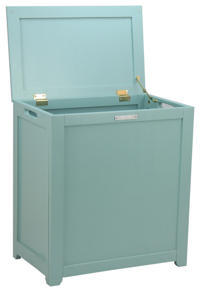 Storage Laundry Hamper, Turquoise - Pot Racks Plus