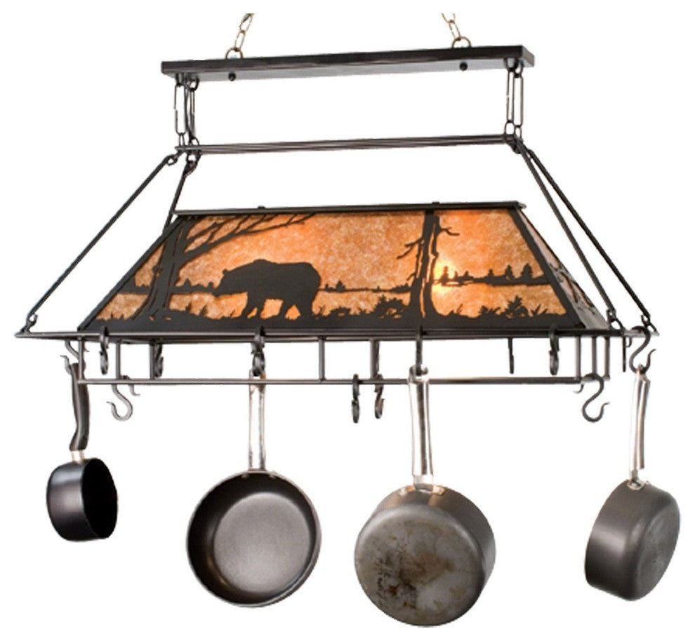 "39""L Bear at Lake Pot Rack - Pot Racks Plus"