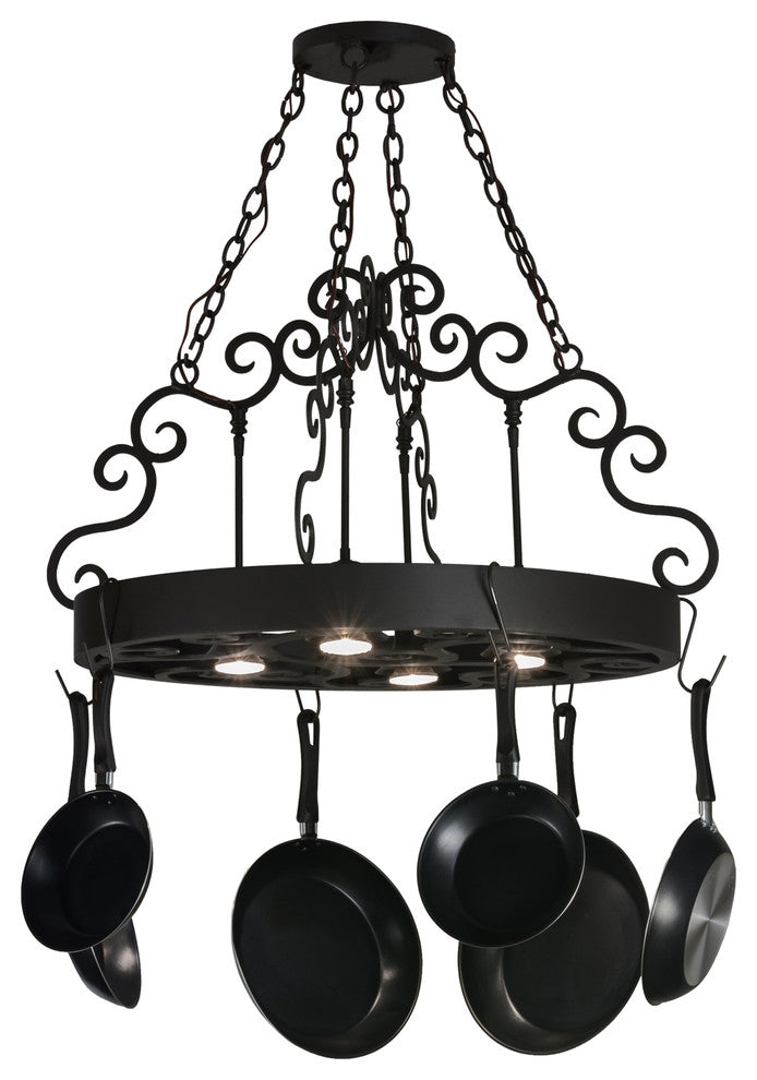 "32"" Dior 4-Light Pot Rack - Pot Racks Plus"