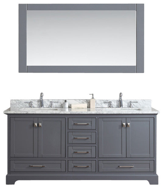 Newport White 36 inch Single Sink Bathroom Vanity with Mirror - Pot Racks Plus