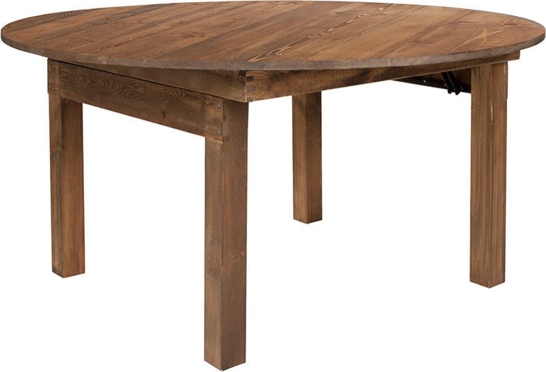 Flash Furniture HERCULES Series Round Dining Table | Farm Inspired, Rustic & Antique Pine Dining Room Table - Pot Racks Plus