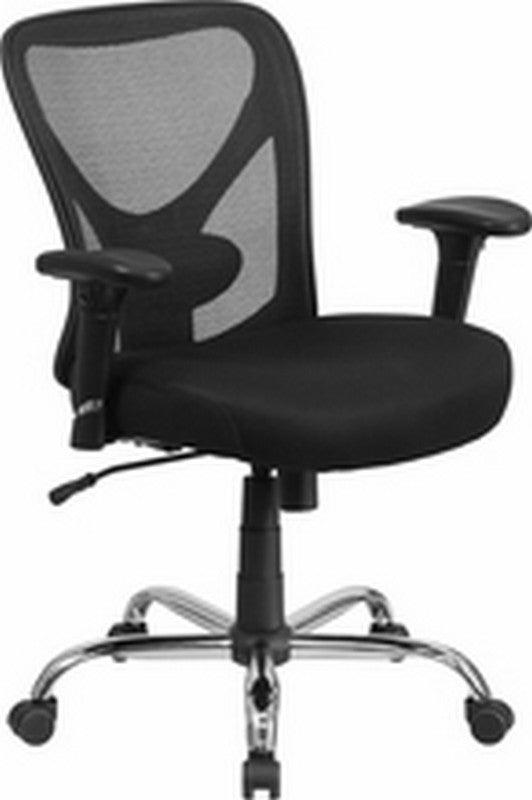 Big & Tall Office Chair | Adjustable Height Mesh Swivel Office Chair with Wheels