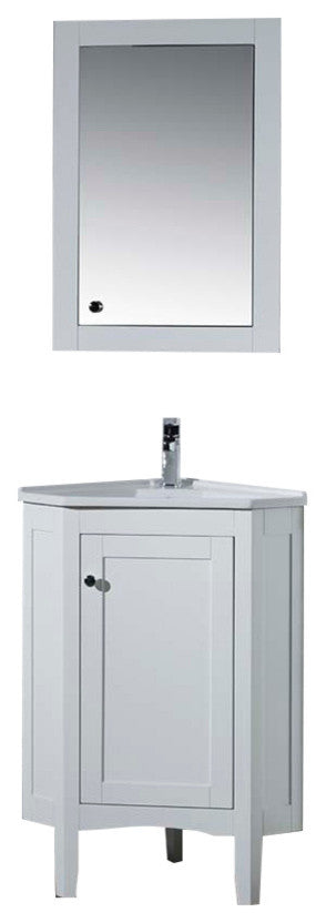 Adler 60 Inch White Double Sink Bathroom Vanity W/Drains & Faucets-Chrome - Pot Racks Plus