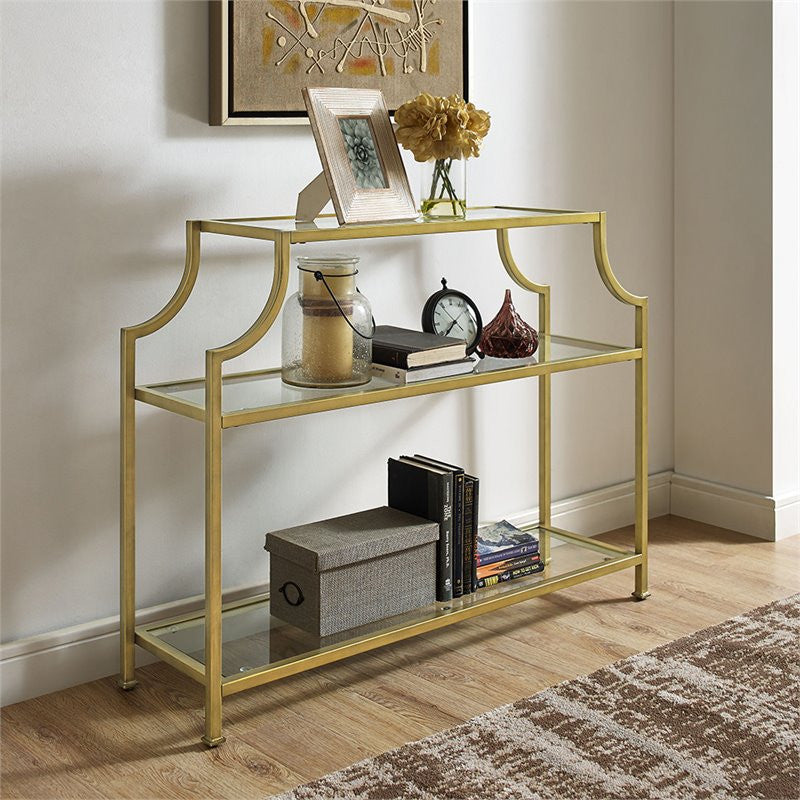 Aimee Glass Console Table - Pot Racks Plus