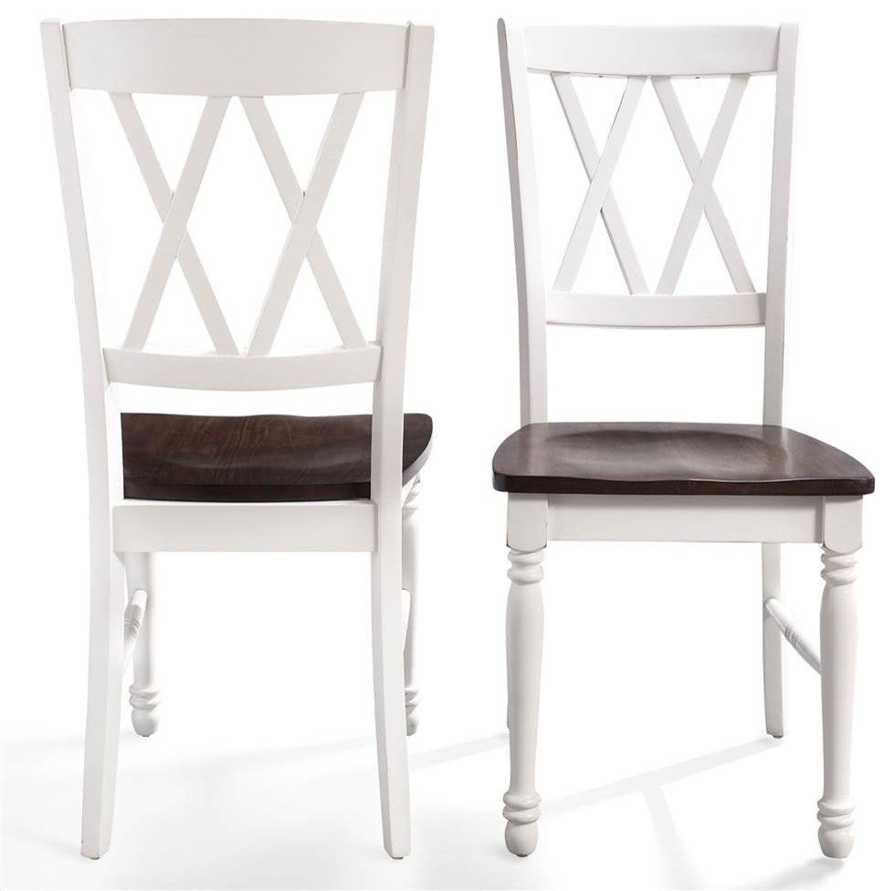 Shelby Dining Chair, White Finish, Set of 2 - Pot Racks Plus