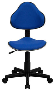 Blue Fabric Swivel Ergonomic Task Office Chair