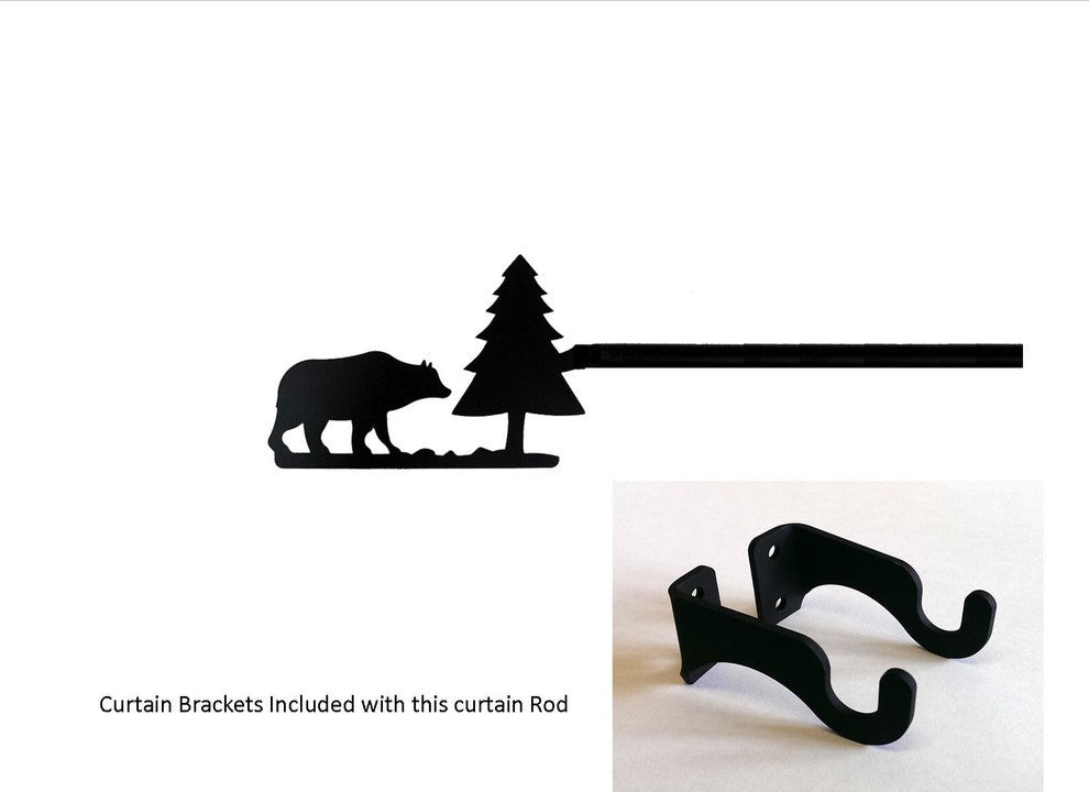 Bear/Pine Curtain Rod, Small - Pot Racks Plus