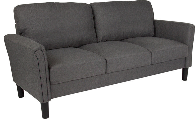 Bari Upholstered Sofa in Dark Gray Fabric