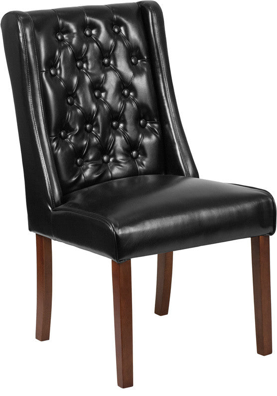 Flash Furniture HERCULES Preston Series Black LeatherSoft Tufted Parsons Chair - Pot Racks Plus
