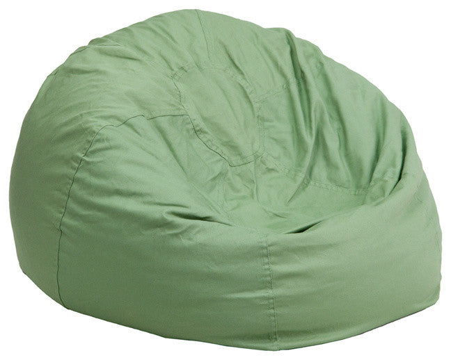 Flash Furniture   Small Solid Green Bean Bag Chair for Kids and Teens - Pot Racks Plus