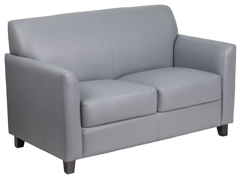 HERCULES Diplomat Series Gray LeatherSoft Loveseat