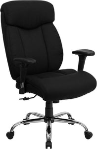 HERCULES Series Big & Tall 400 lb. Rated Black Fabric Executive Ergonomic Office Chair with Full Headrest and Arms