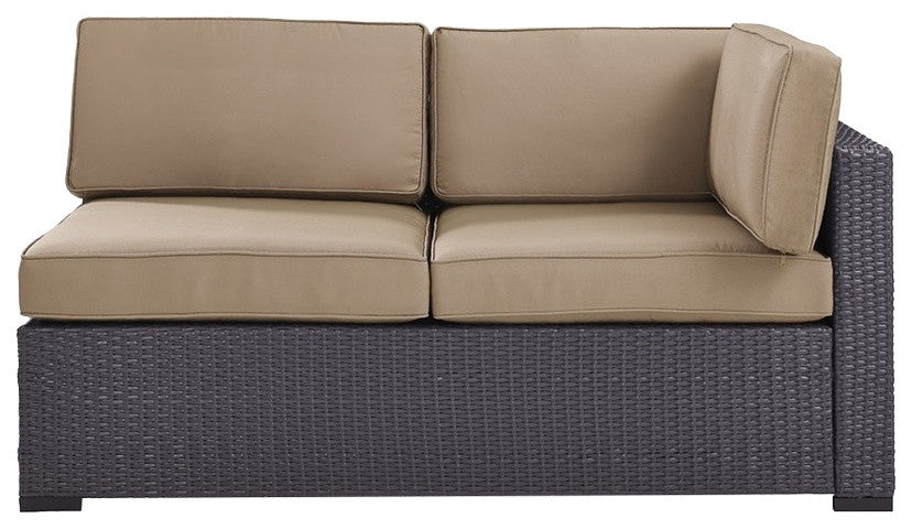 Biscayne Loveseat With Arm, Mocha - Pot Racks Plus