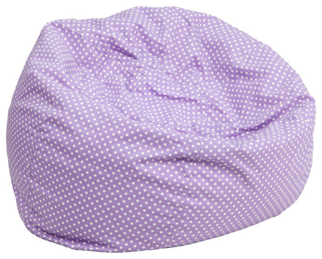 Flash Furniture   Small Lavender Dot Bean Bag Chair for Kids and Teens - Pot Racks Plus
