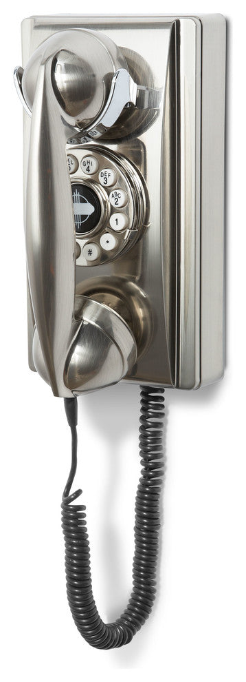 Wall Phone, Brushed Chrome - Pot Racks Plus