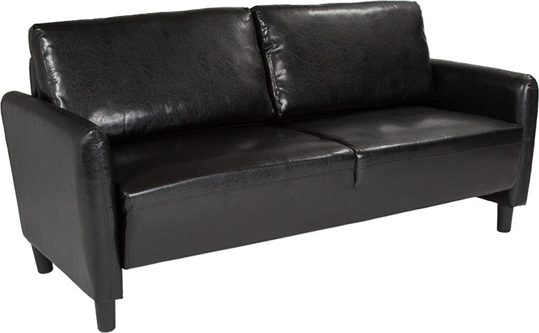 Candler Park Upholstered Sofa in Black LeatherSoft