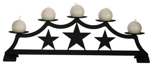 Star, Fireplace Pillar Candle Holder