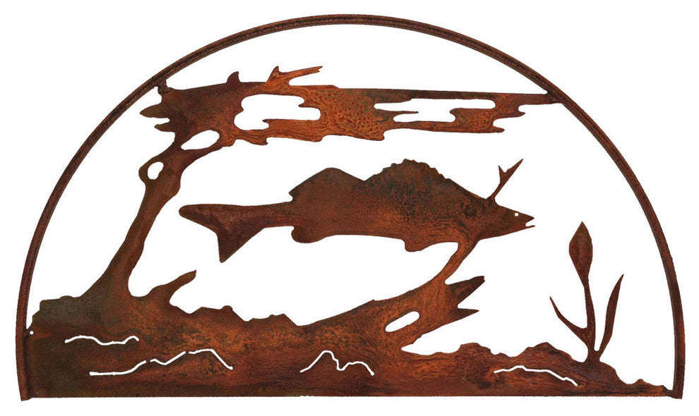 Fish Hoop, Rust Patina - Pot Racks Plus