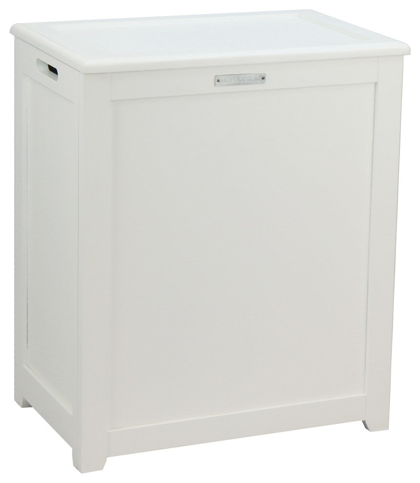 Storage Laundry Hamper, White - Pot Racks Plus
