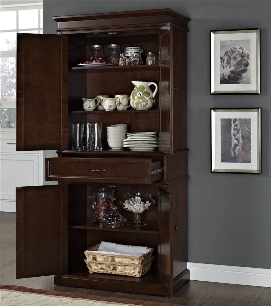 Parsons Pantry, Mahogany - Pot Racks Plus