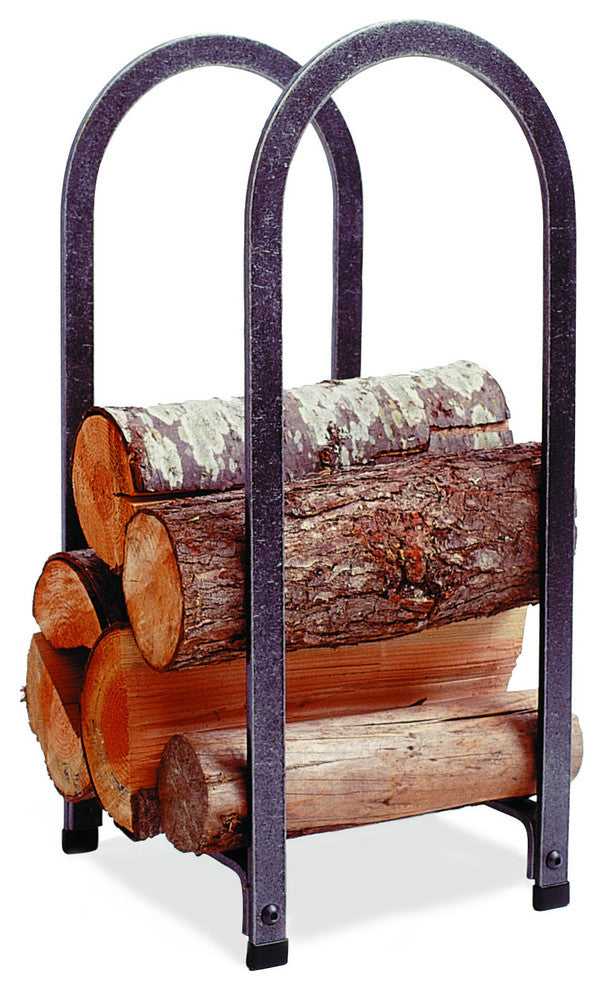 Premier Vertical Arch Log Rack Hammered Steel - Pot Racks Plus