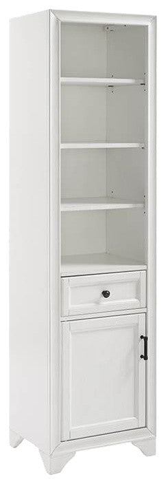 Tara Linen Cabinet, White - Pot Racks Plus