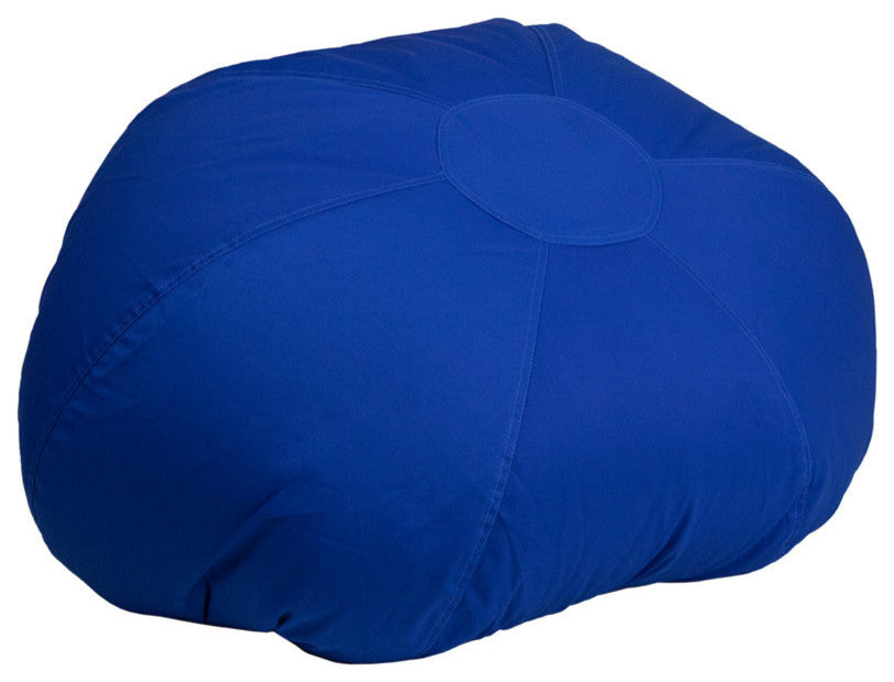 Flash Furniture   Oversized Solid Royal Blue Bean Bag Chair for Kids and Adults - Pot Racks Plus