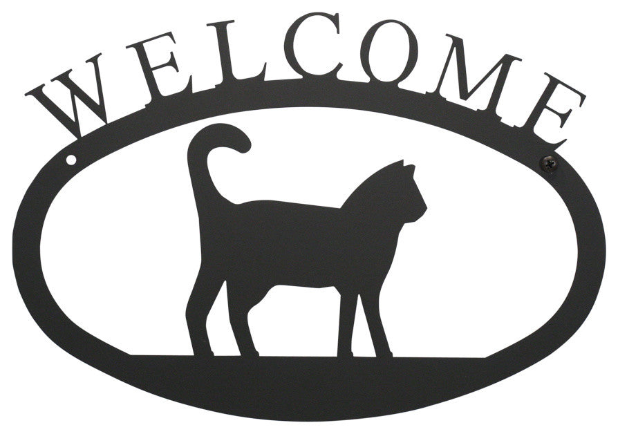 Welcome Sign, Small, Cat