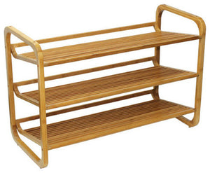 3 Tier Bamboo Shoe Rack - Pot Racks Plus