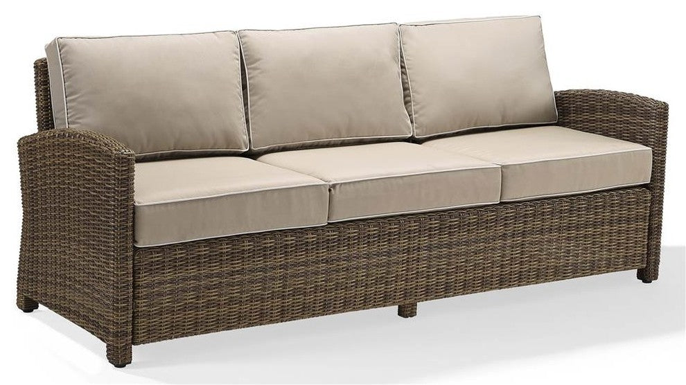 Bradenton Sofa With Cushions, Sand - Pot Racks Plus