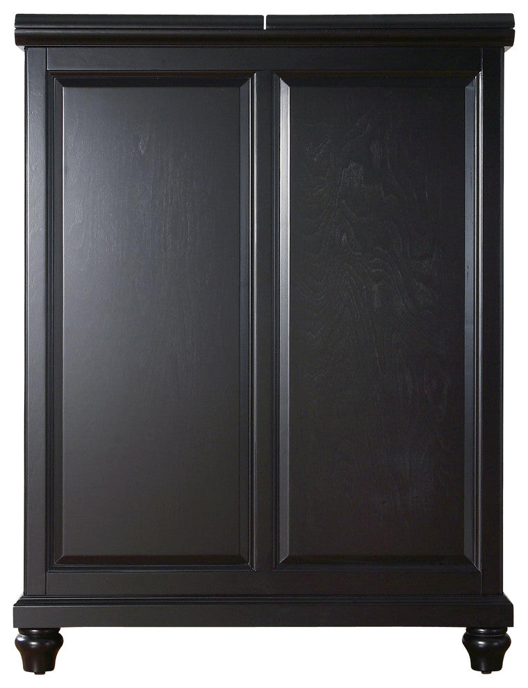 Cambridge Expandable Bar Cabinet, Black Finish - Pot Racks Plus