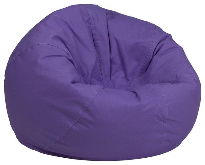 Flash Furniture   Small Solid Purple Bean Bag Chair for Kids and Teens - Pot Racks Plus