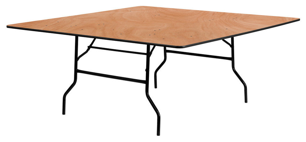 6-Foot Square Wood Folding Banquet Table