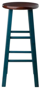 "Ivy 29"" Bar Stool Walnut/Teal - Pot Racks Plus"