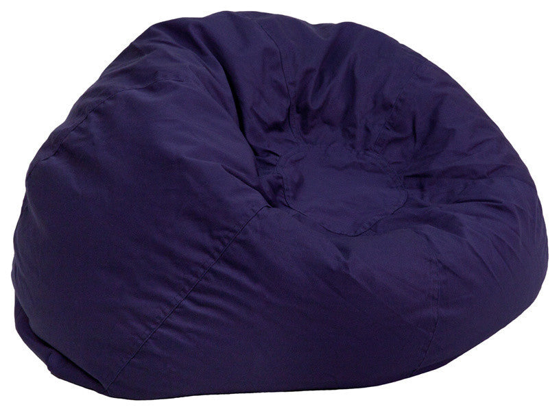 Flash Furniture   Oversized Solid Navy Blue Bean Bag Chair for Kids and Adults - Pot Racks Plus
