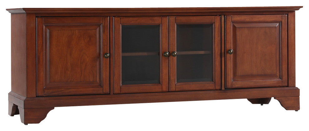 "LaFayette 60"" Low Profile TV Stand, Classic Cherry Finish - Pot Racks Plus"