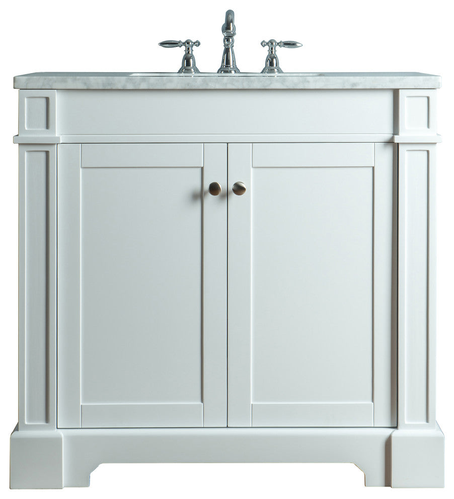 "Seine 48"" White Single Sink Bathroom Vanity - Pot Racks Plus"