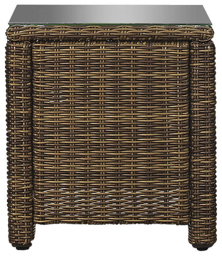 Bradenton Outdoor Wicker Rectangular Side Table - Pot Racks Plus